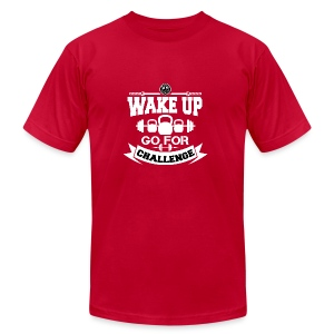 Wake Up and Take the Challenge - Men's Fine Jersey T-Shirt