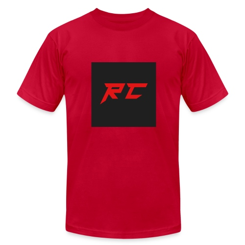 RED RC Logo - Men's Fine Jersey T-Shirt