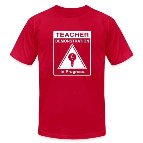 Teacher Demonstration in Progress - Men's Fine Jersey T-Shirt