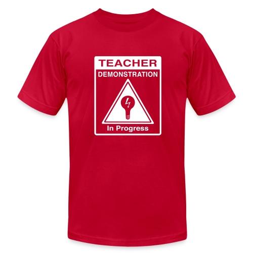 Teacher Demonstration in Progress - Men's Fine Jersey T-Shirt