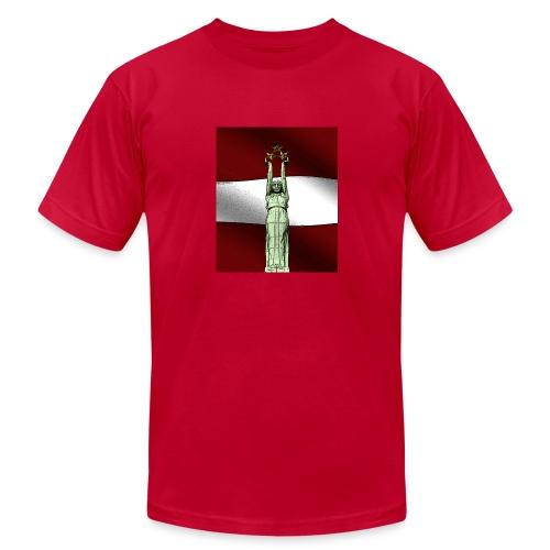 red-Latvija-Flag - Men's Fine Jersey T-Shirt
