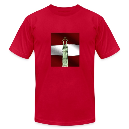 red-Latvija-Flag - Men's Fine Jersey T-Shirt