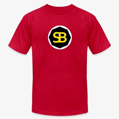 New StreamBox Logo Blk Gold - Men's Fine Jersey T-Shirt