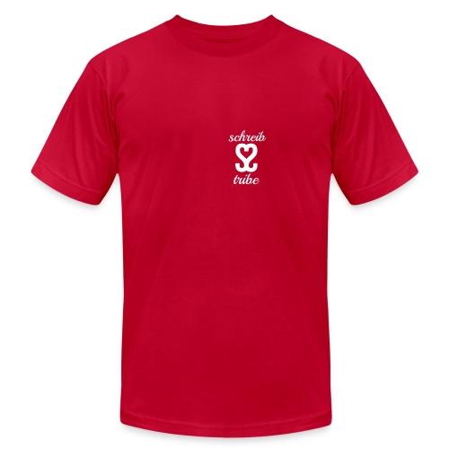 SCHREIB TRIBE MERCH WHITE LOGO - Men's  Jersey T-Shirt