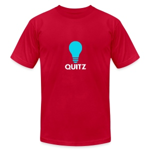 Quitz Blue w/ white text - Men's T-Shirt by American Apparel