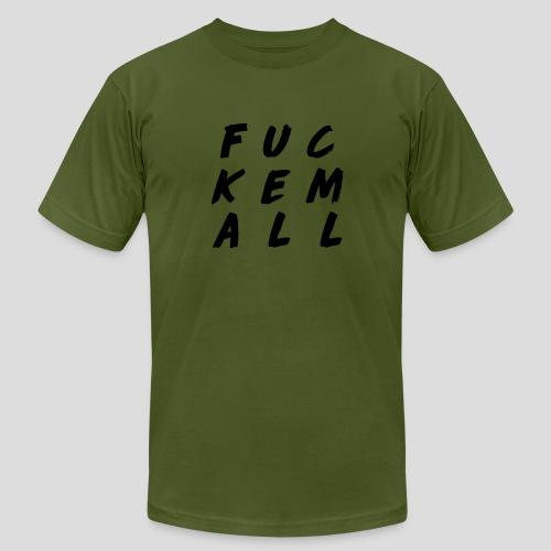 FUCKEMALL Black Logo - Men's  Jersey T-Shirt