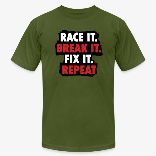 race it break it fix it repeat - Men's Jersey T-Shirt