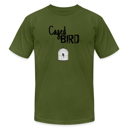 Caged Bird Abstract Design - Men's Jersey T-Shirt