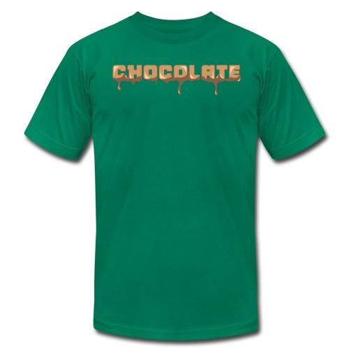 Chocolate Horizontal Font - Men's Fine Jersey T-Shirt