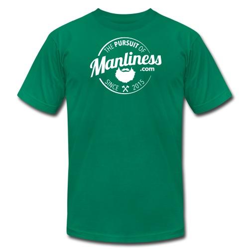 PoM Logo Round - Men's Fine Jersey T-Shirt