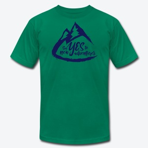 Say Yes to Adventure - Dark - Men's Fine Jersey T-Shirt
