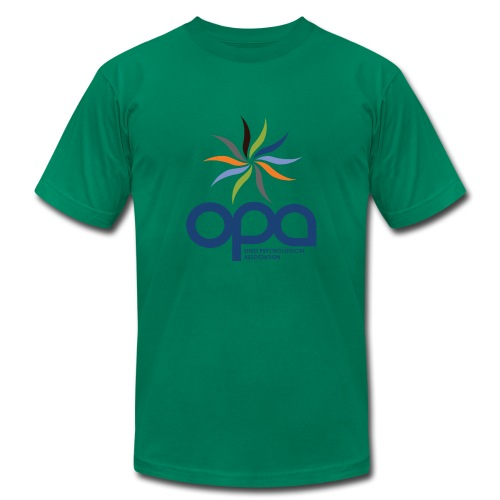 Short-sleeve t-shirt with full color OPA logo - Men's Fine Jersey T-Shirt