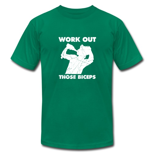Work Out Those Biceps - Men's Fine Jersey T-Shirt