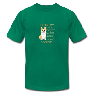 I Love My Corgi - Men's Fine Jersey T-Shirt