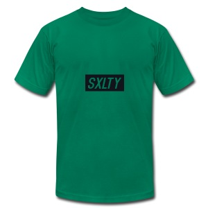 *Dark Blue SXLTY Logo* REGULAR TSHIRT. - Men's Fine Jersey T-Shirt