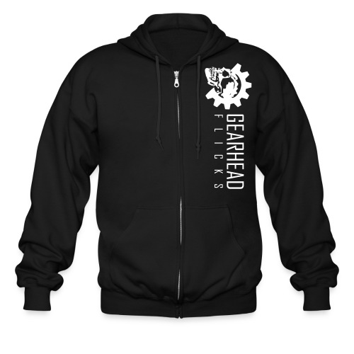 Gearhead Flicks logo white - Men's Zip Hoodie