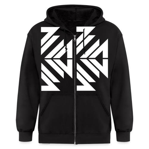 half_white_BVW - Men's Zip Hoodie