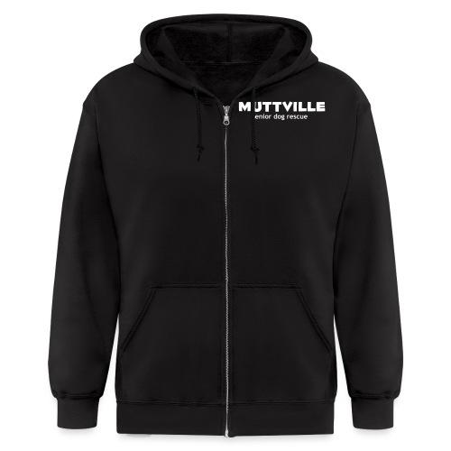 muttville wht - Men's Zip Hoodie