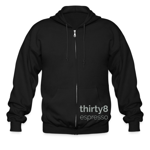 38Espresso Words White - Men's Zip Hoodie