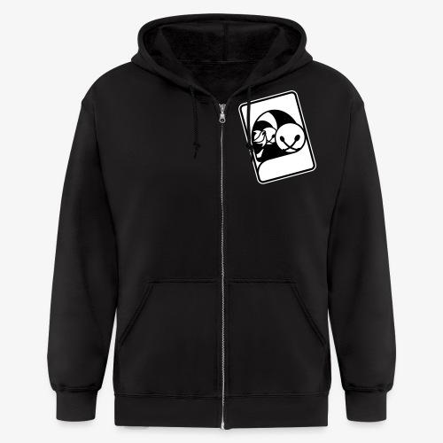 WHP Logo B/W - Men's Zip Hoodie