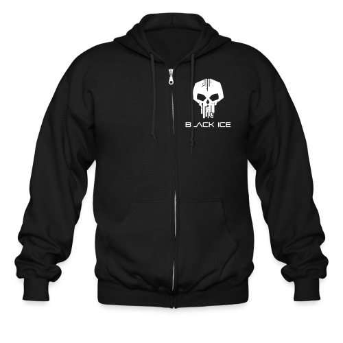 Black Logo Type Vector - Men's Zip Hoodie