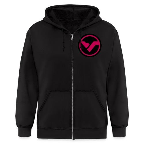 Circle Logo Pink - Men's Zip Hoodie