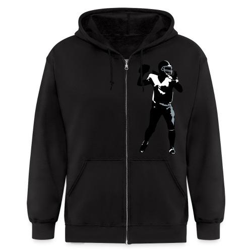 QB vector - Men's Zip Hoodie