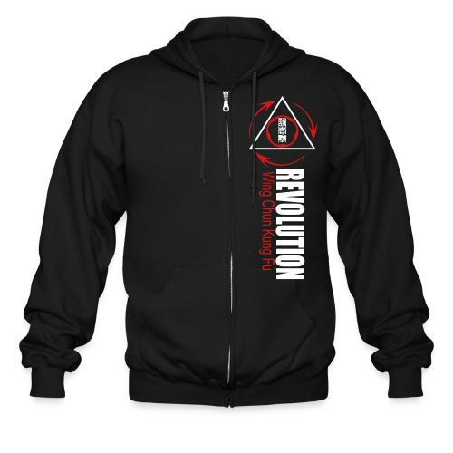 2 color Rev Front T - Men's Zip Hoodie