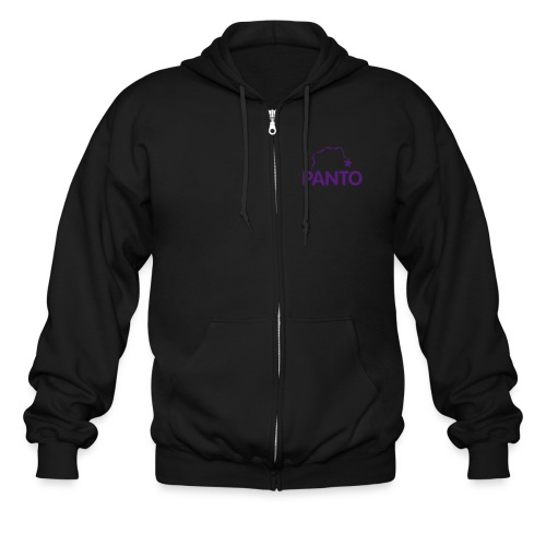 panto stencil smallest - Men's Zip Hoodie