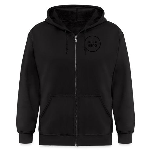 uber nerd logo - Men's Zip Hoodie