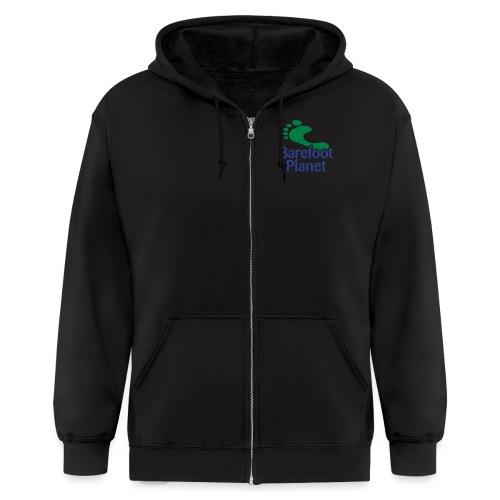 I Run Better, I Run Barefoot Women's T-Shirts - Men's Zip Hoodie