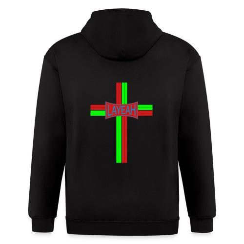 Portugy Cross Three - Men's Zip Hoodie