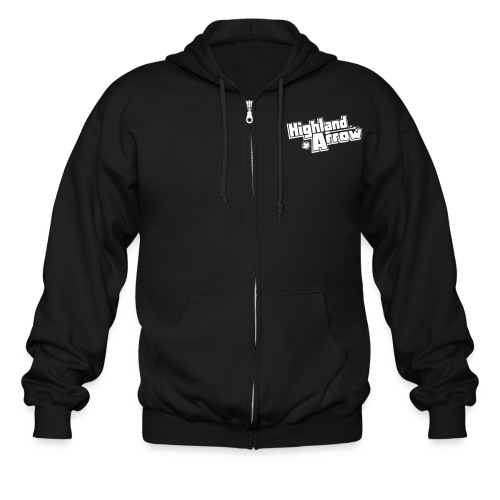 Official Logo Vector 1 Color - Men's Zip Hoodie