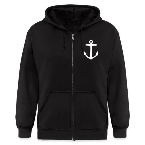 Anchor Sailor Sailing Boating Yachting - Men's Zip Hoodie