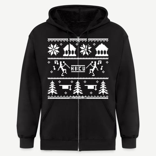 HBCU Ugly Christmas Sweater - Men's Zip Hoodie