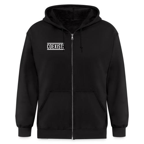 Just Coexiste black XS - Men's Zip Hoodie