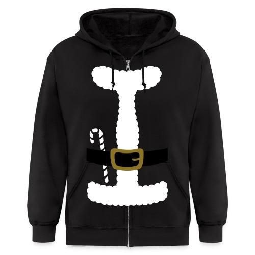 SANTA CLAUS SUIT - Men's Polo Shirt - Men's Zip Hoodie
