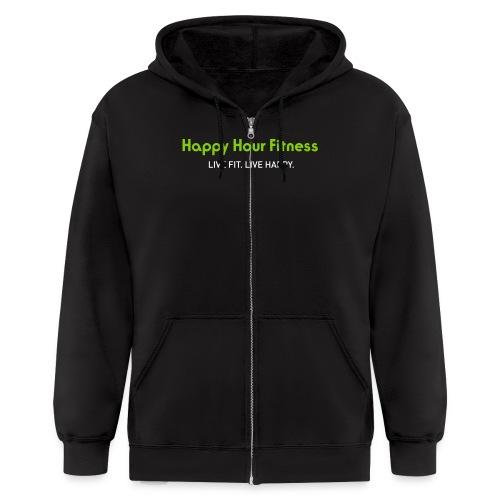 HHF_logotypeandtag - Men's Zip Hoodie