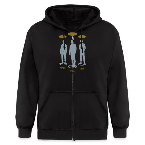 Pathos Ethos Logos 1of2 - Men's Zip Hoodie