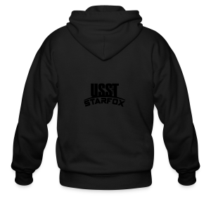 USST STARFOX Text - Men's Zip Hoodie