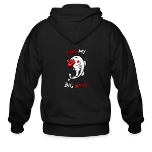 Kiss My Big Bass - Men's Zip Hoodie