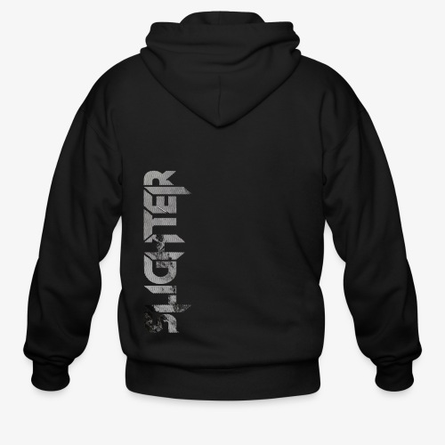 Slighter Line Glitch Logo - Men's Zip Hoodie