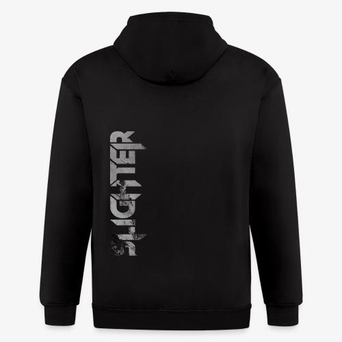 Slighter Line Glitch Logo - Men's Zip Hoodie