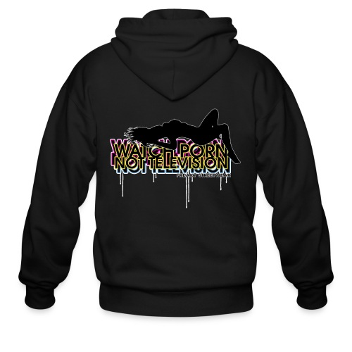 watch porn not television - Men's Zip Hoodie