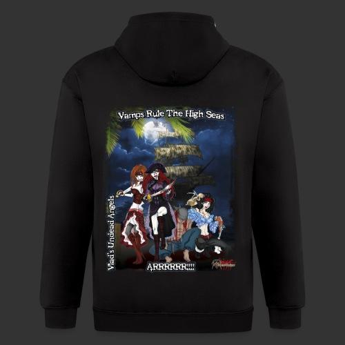 Vampire Pirates Full BG - Men's Zip Hoodie