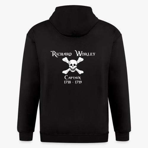 Captain Richard Worley - Men's Zip Hoodie