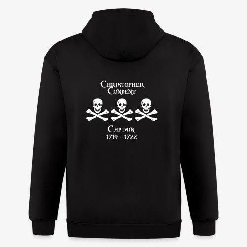 Captain Christopher Condent - Men's Zip Hoodie