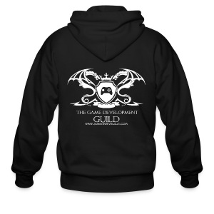 White Game Development Guild Crest - Men's Zip Hoodie