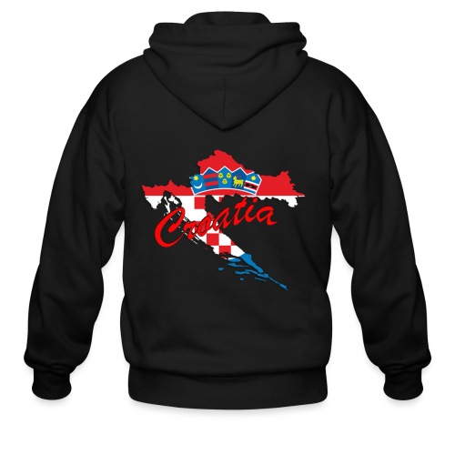 Croatia Football Team Colours T-Shirt Treasure Des - Men's Zip Hoodie
