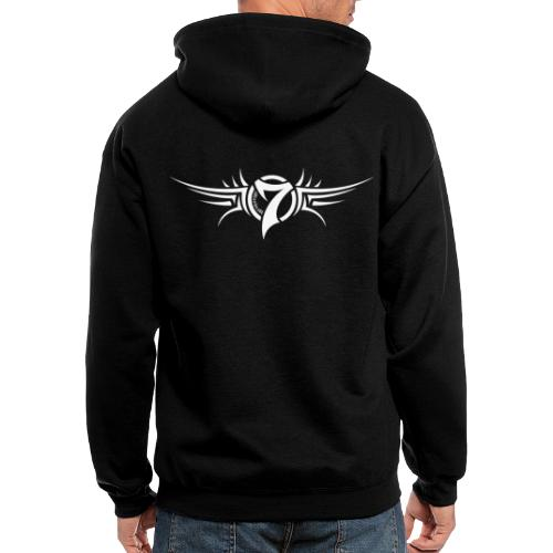 MayheM-7 Tattoo Logo White - Men's Zip Hoodie